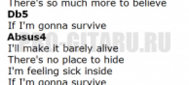 Barely Alive Аккорды для гитары 🎶 Barely Alive разбор песни
