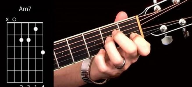 Как играть аккорд am7 на гитаре