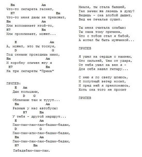 Дым кольцами (дворовая песня под гитару) :