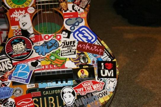 #Полезно знать | Как сделать DIY-наклейку для гитары :